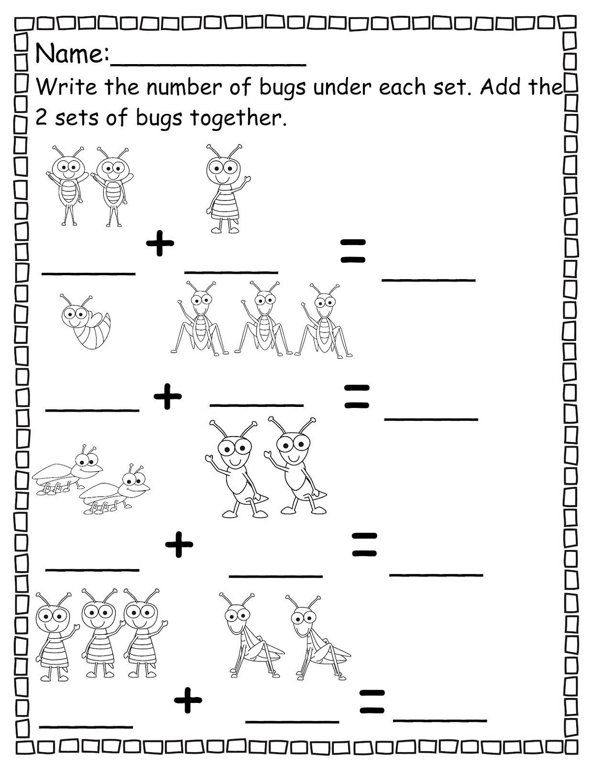 Math Worksheets To Print Out Addition