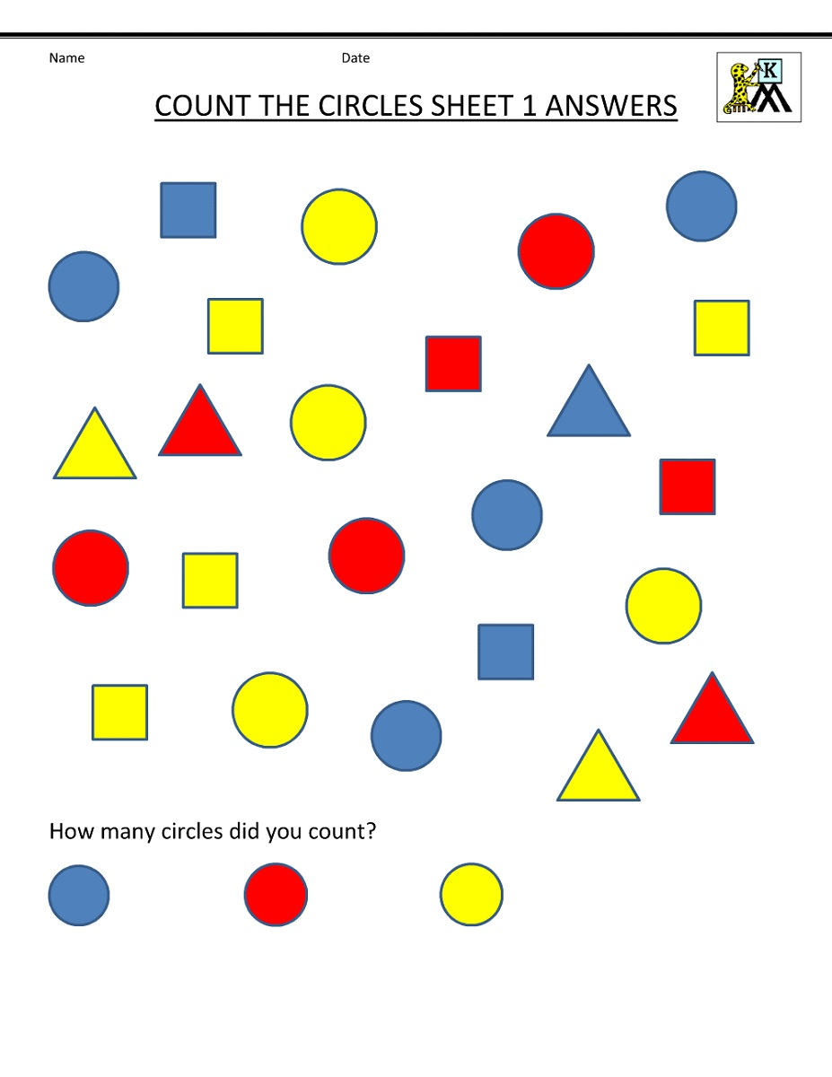 Math Worksheets To Print Out Counting