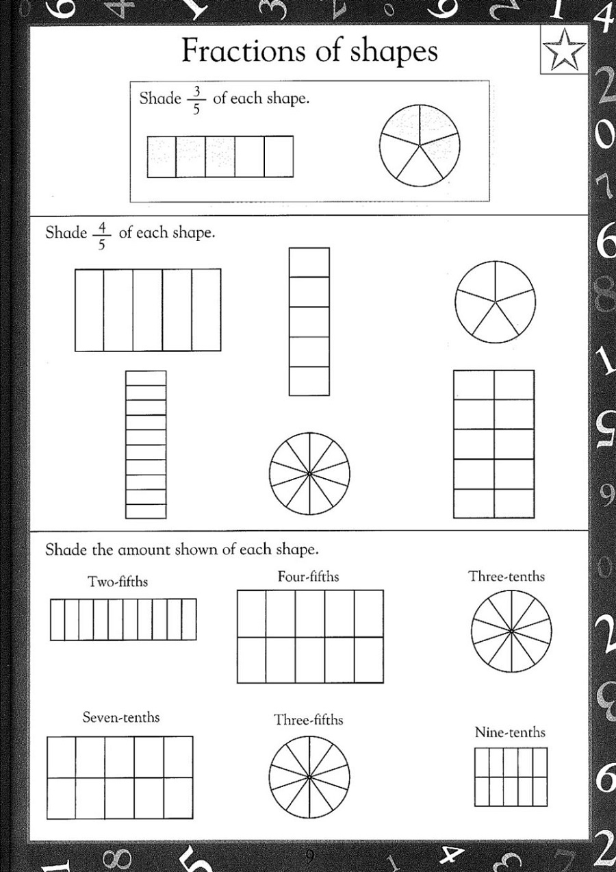 Maths Online Worksheets Fraction