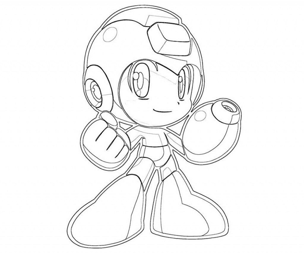 Mega Man Coloring Pages Chibi