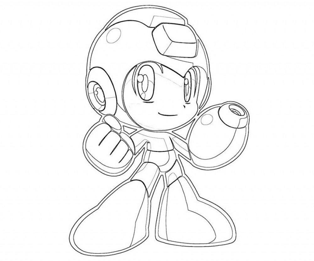 Mega Man Coloring Pages Chibi
