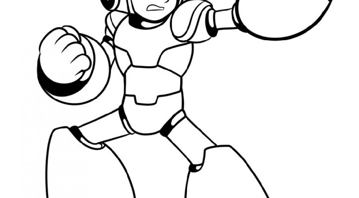 Mega Man Coloring Pages For Kids