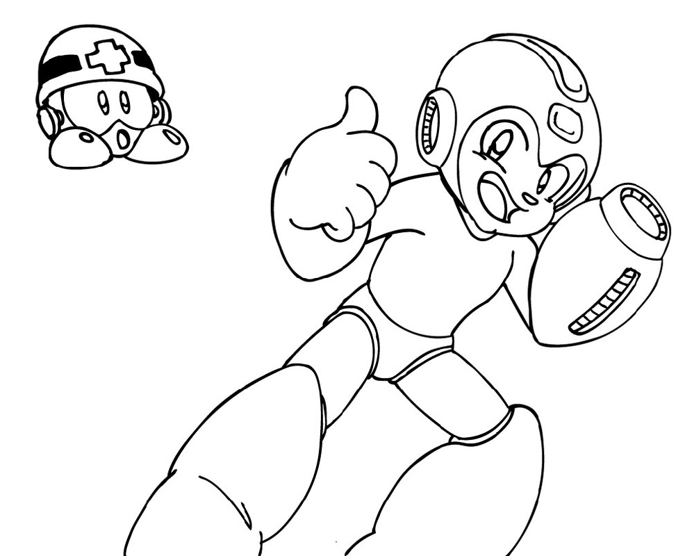 Mega Man Coloring Pages Free
