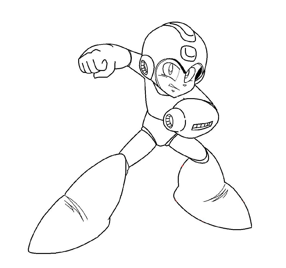 Mega Man Coloring Pages Printable