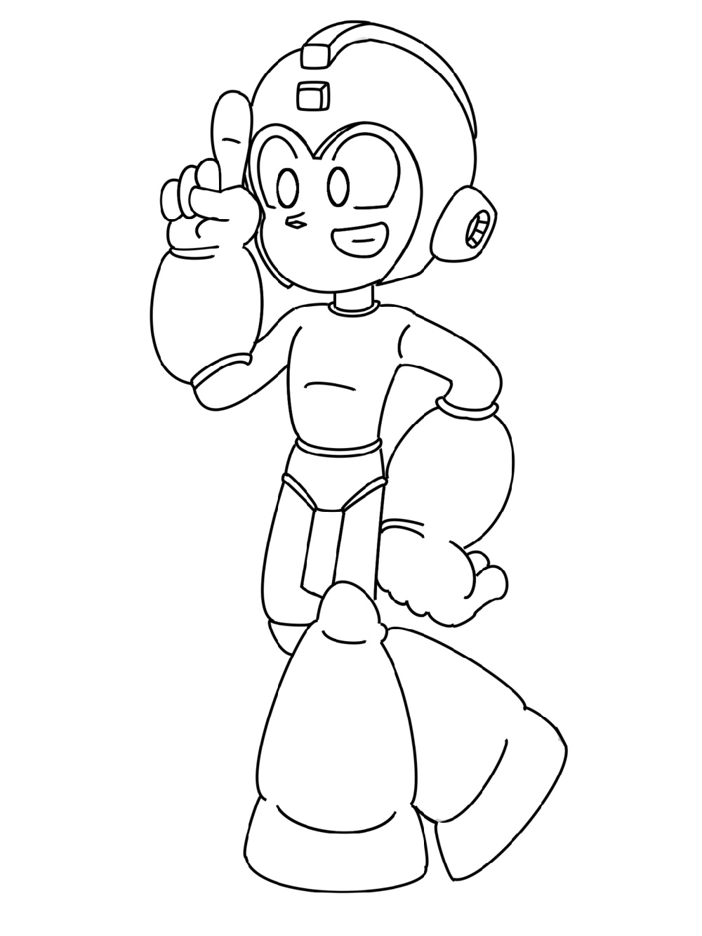 Mega Man Coloring Pages Sonic Pose