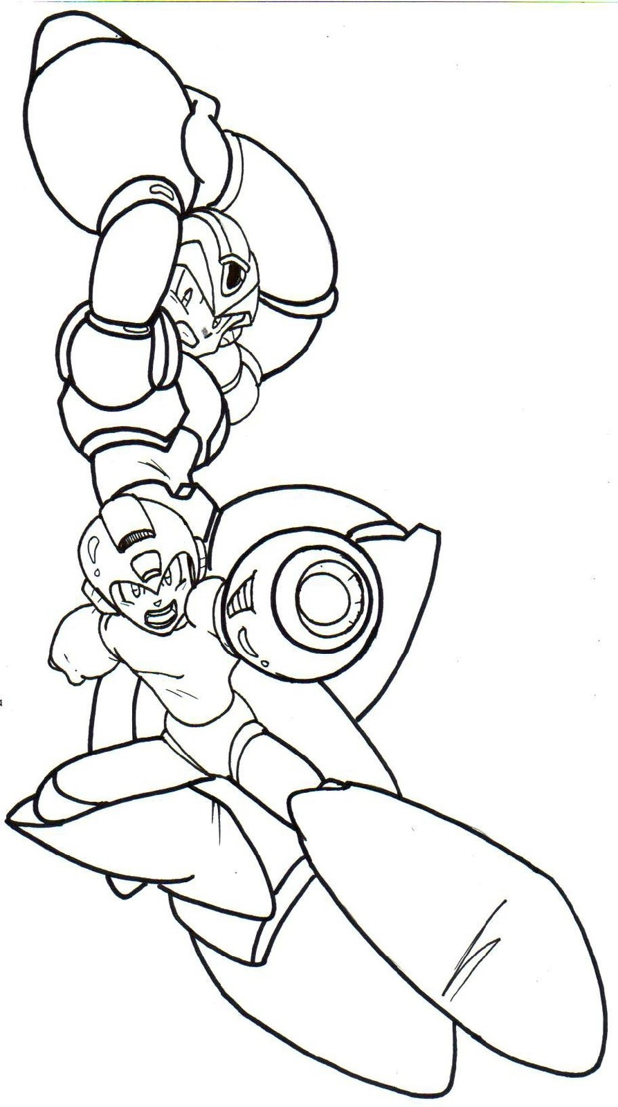 Mega Man Coloring Pages To Print
