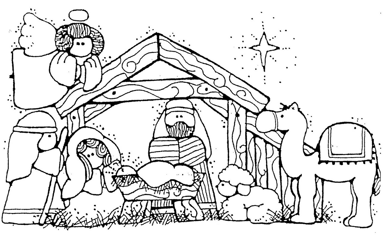 Nativity Coloring Pages Christmas
