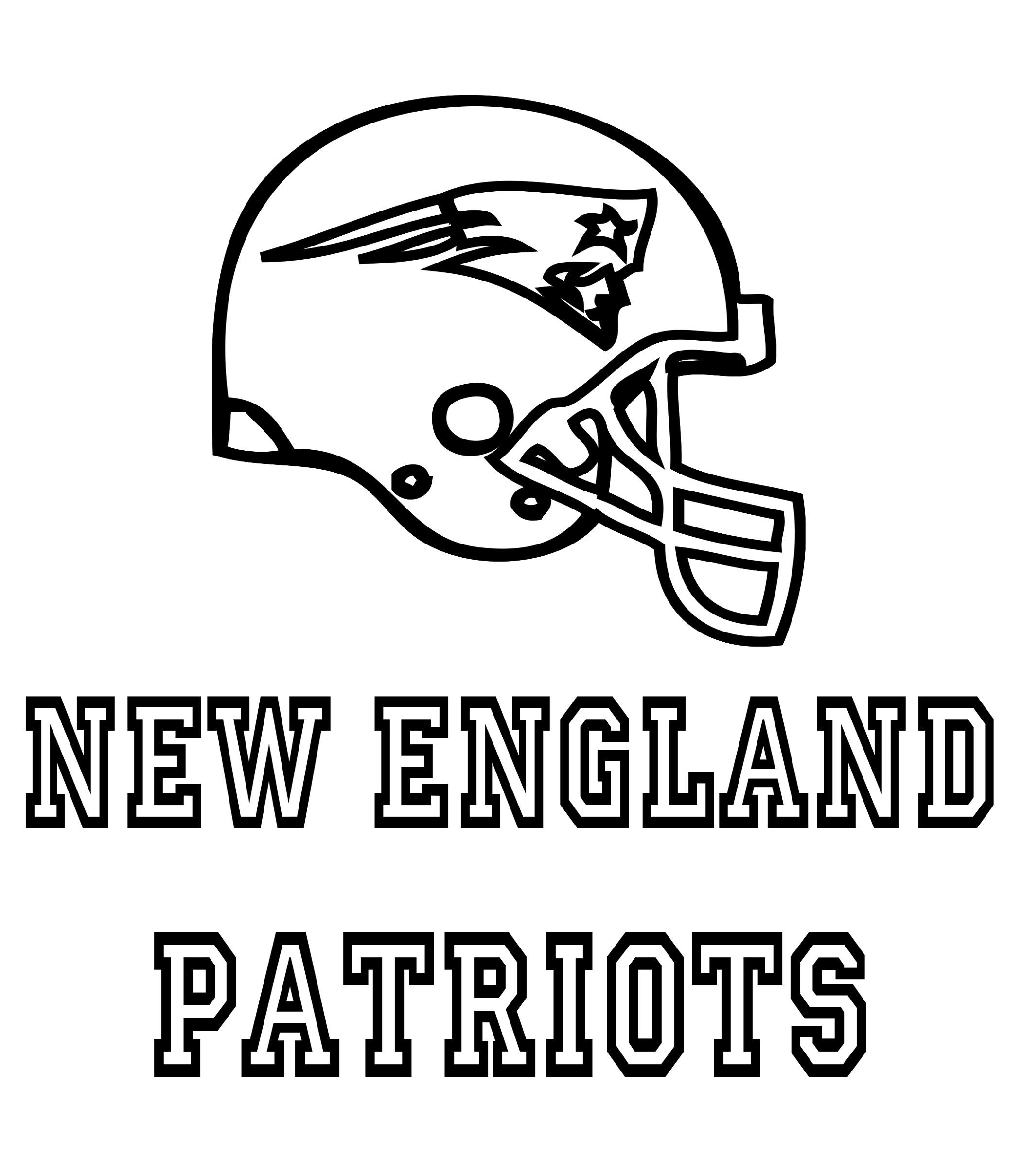 New England Patriots Coloring Pages Free
