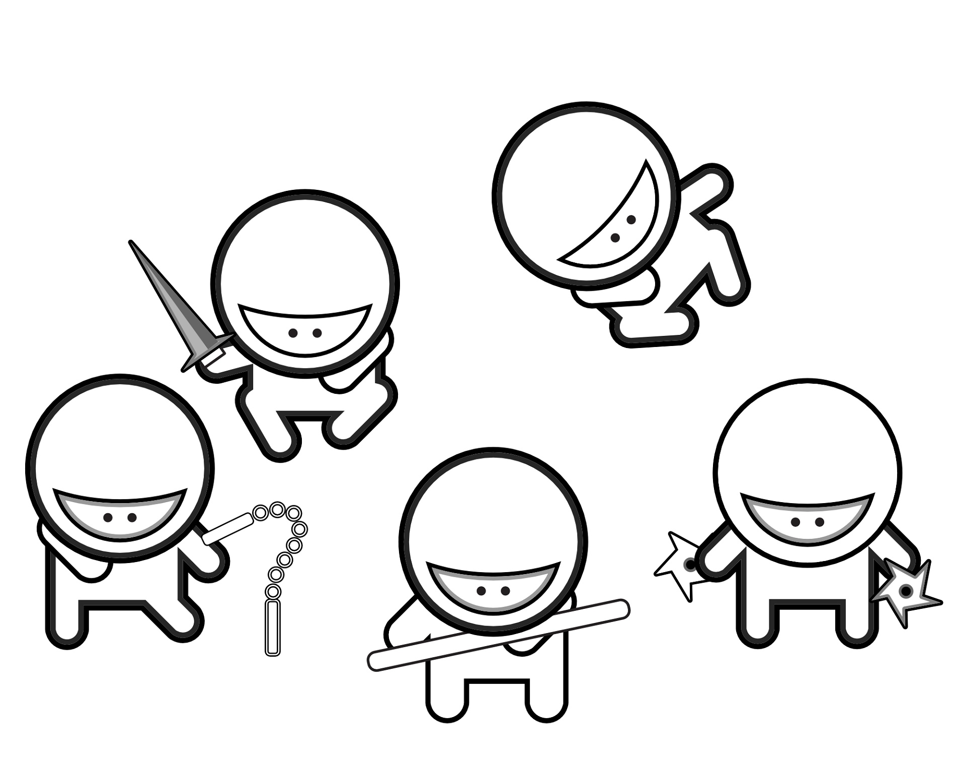 Ninja Coloring Pages For Kids