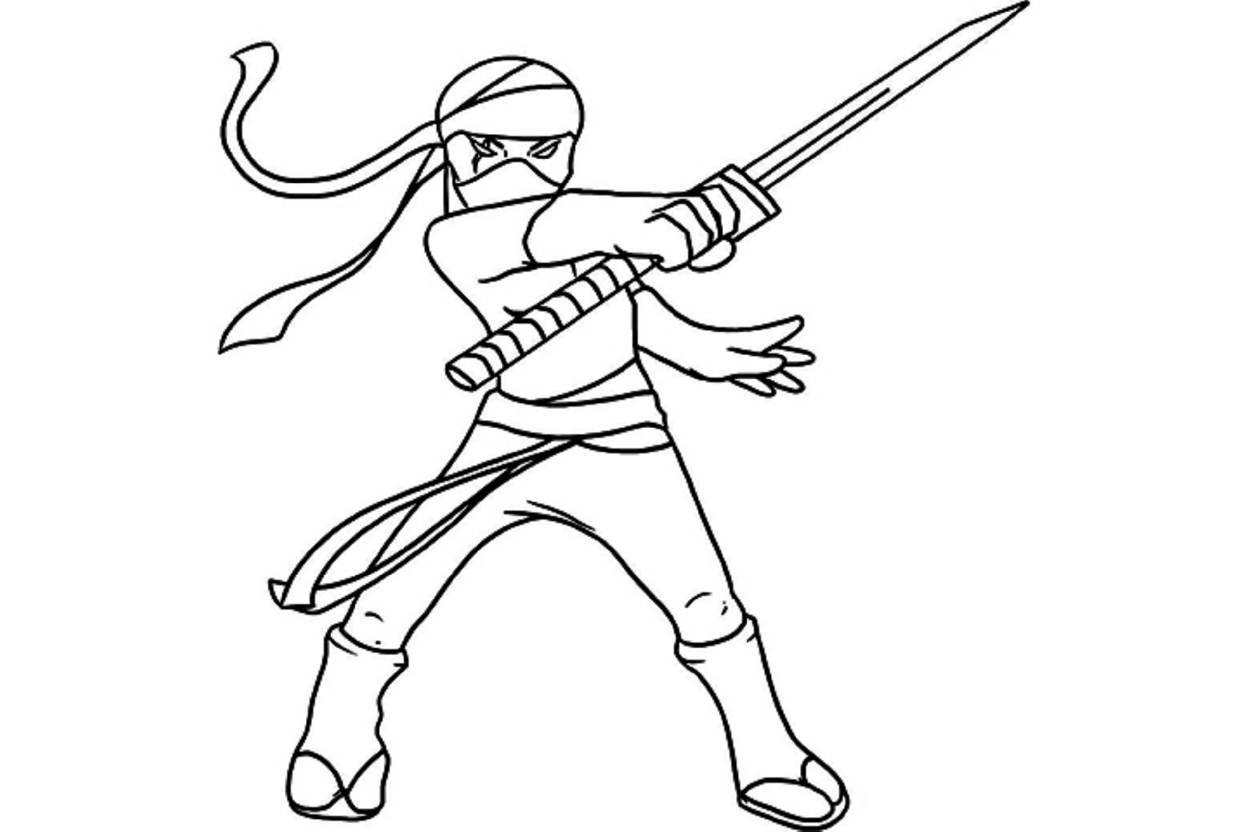 Ninja Coloring Pages Free