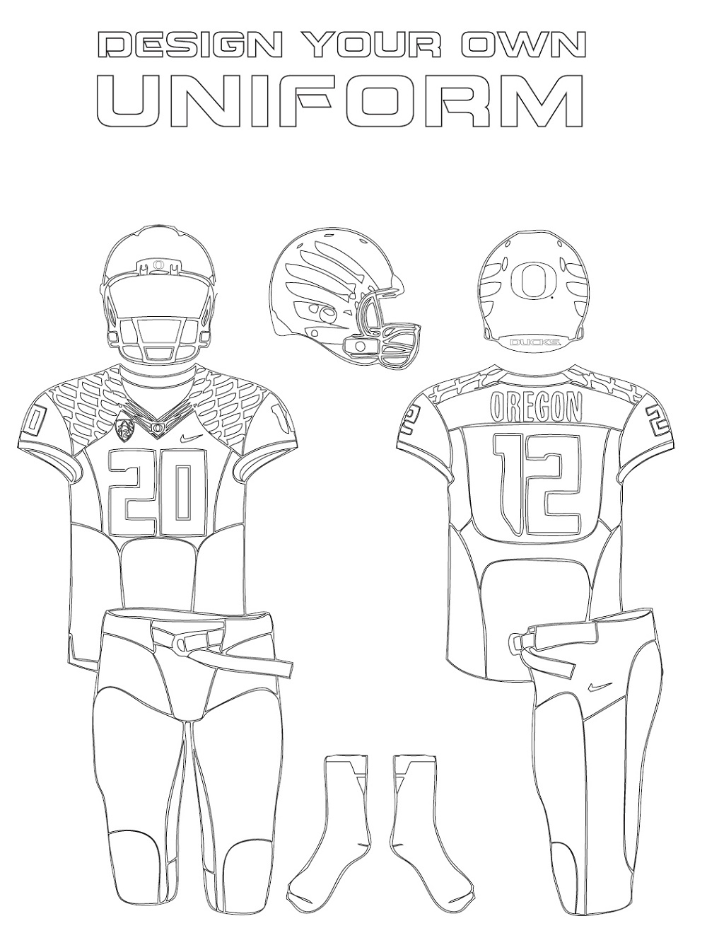 Odell Beckham Jr Coloring Page Uniform