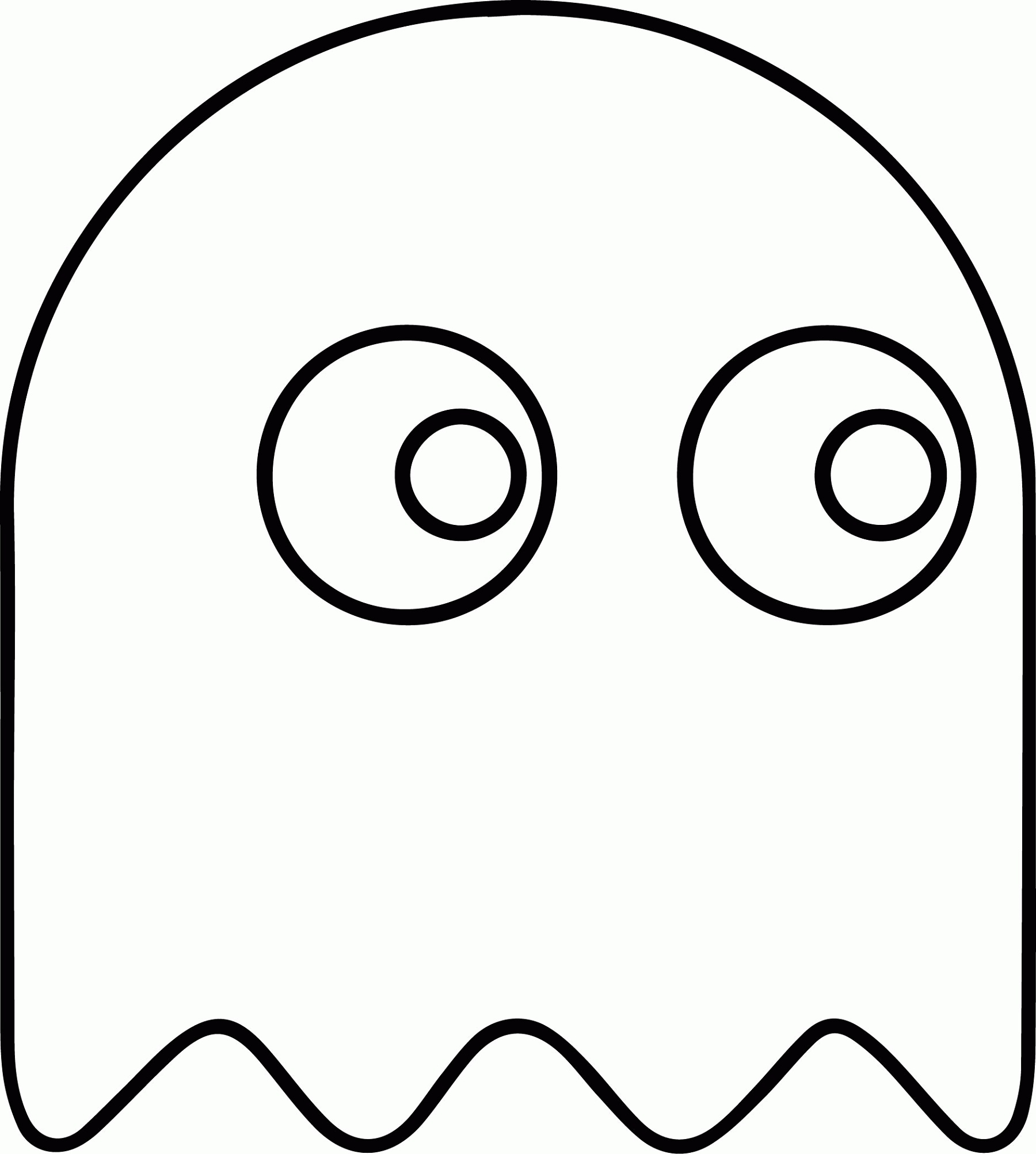 Pacman Coloring Pages Ghost