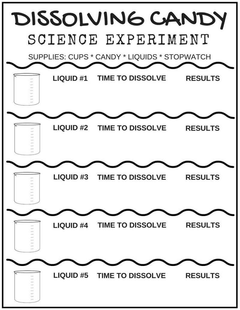 Play School Worksheets Science Experiment