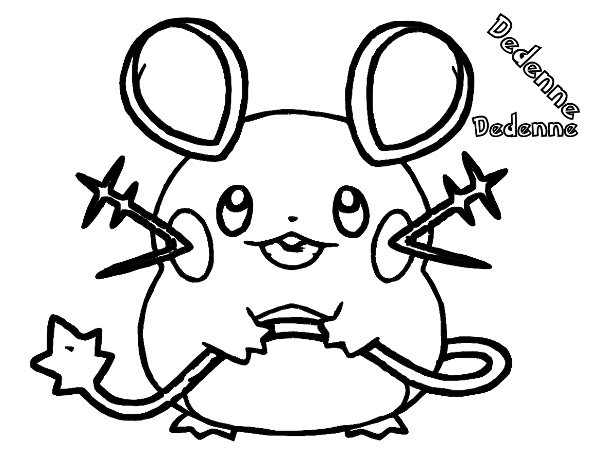 Pokemon Coloring Sheets Dedenne