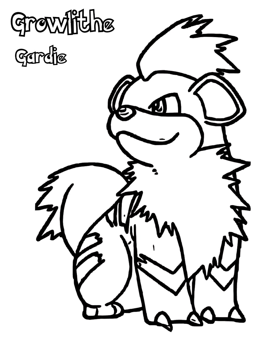 Pokemon Coloring Sheets Growlithe