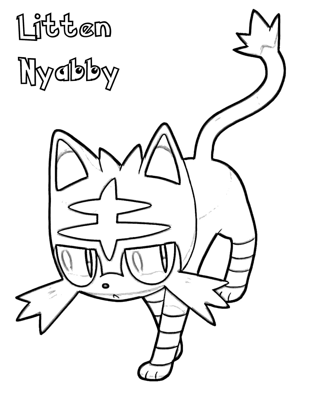 Pokemon Coloring Sheets Nyabby