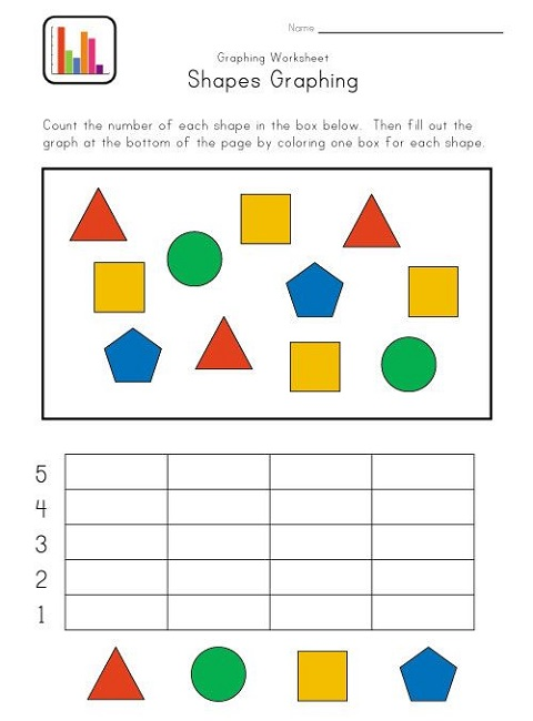 Preschool Activity Sheets Shapes