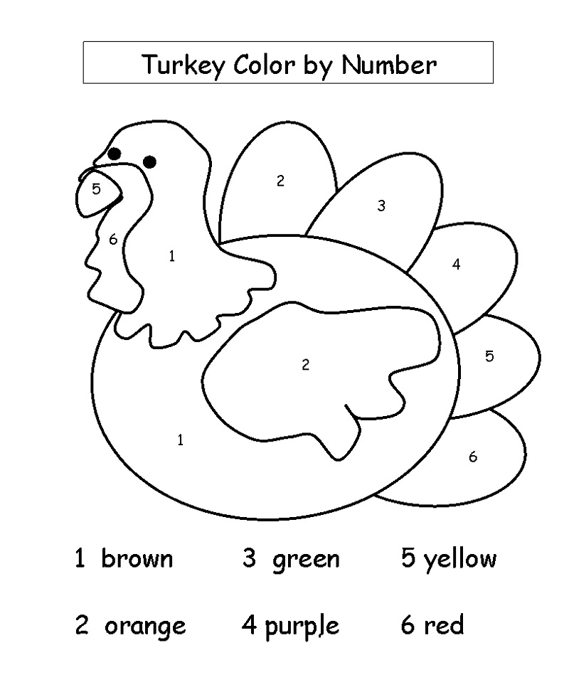 Printable Activities For 4 Year Olds Color By Number