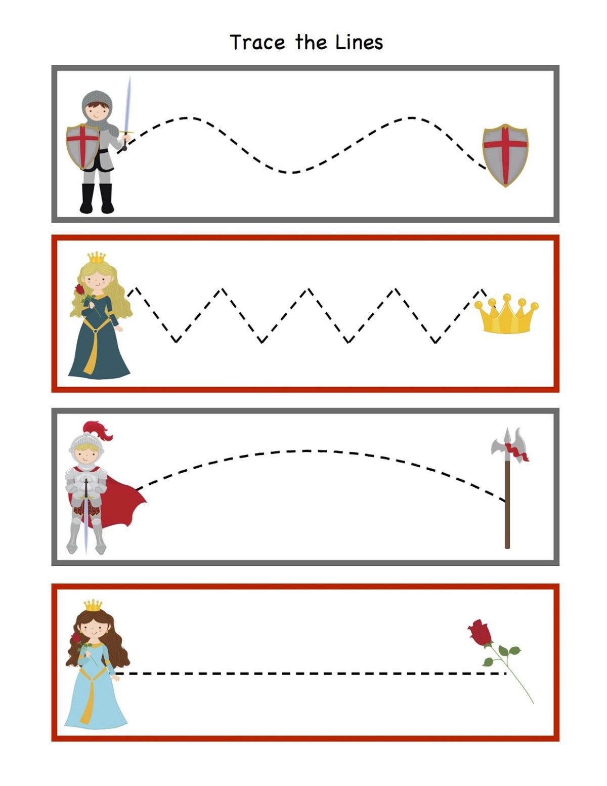 Printable Activities For 4 Year Olds Tracing