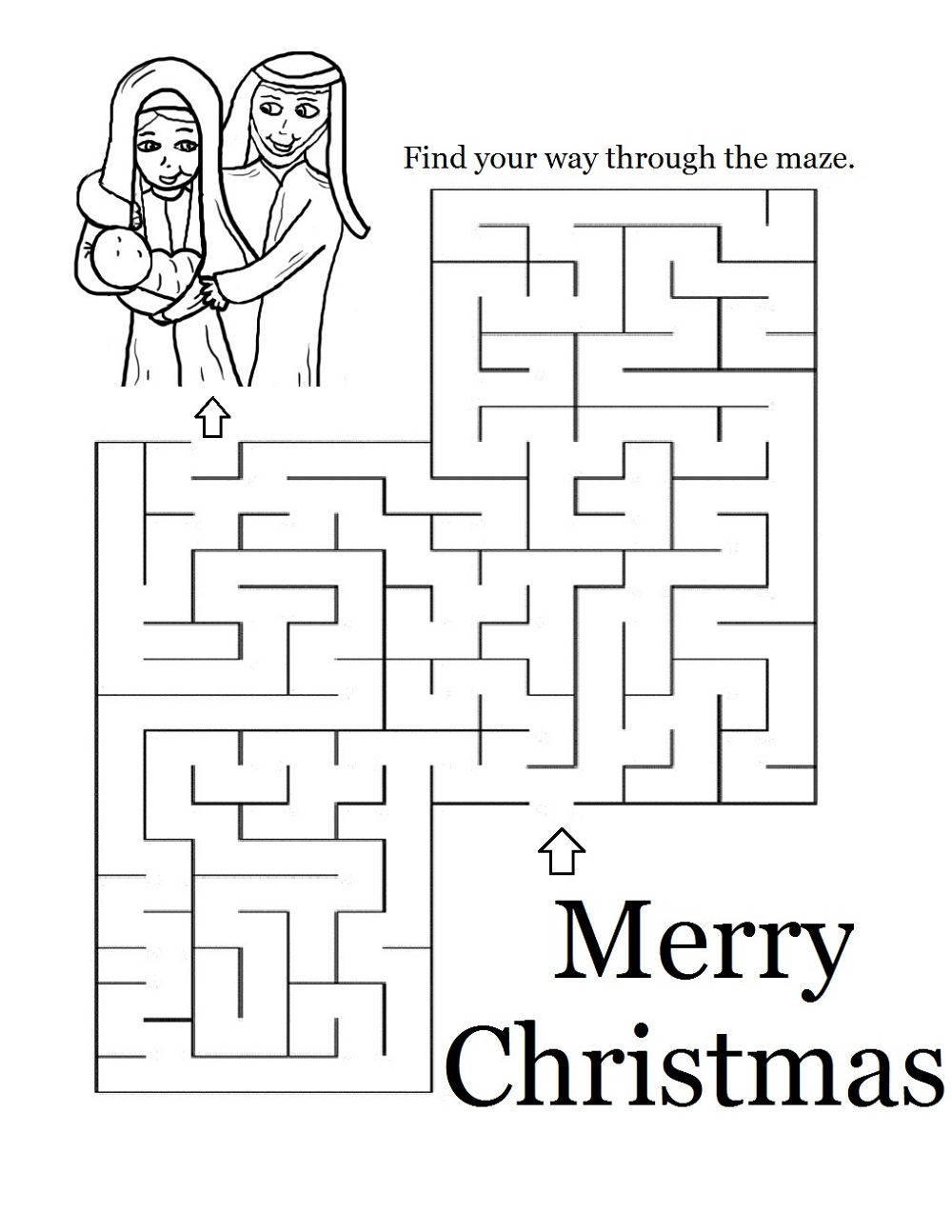 Printable Activities For 9 Year Olds Maze