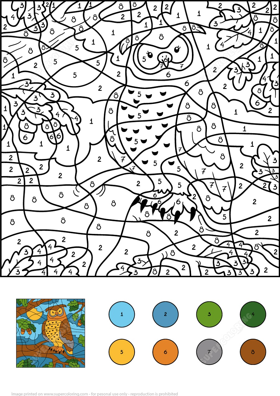 Printable Activity Books Color By Numbers