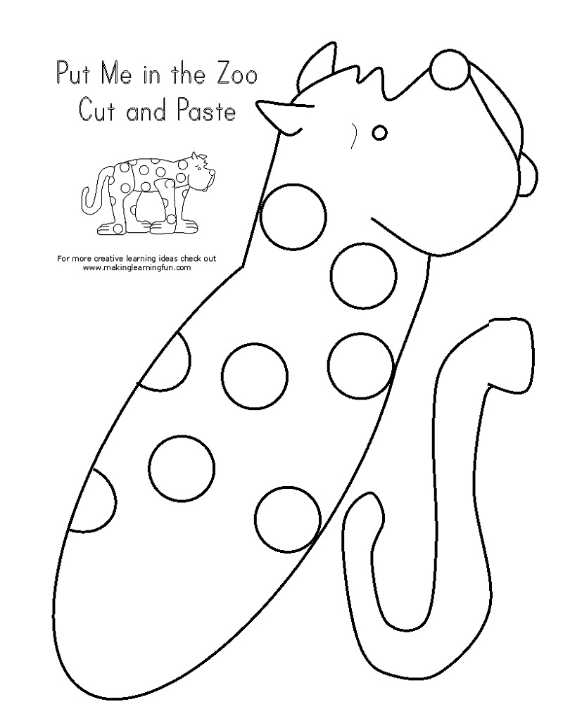 Printable Activity Books Cut And Paste