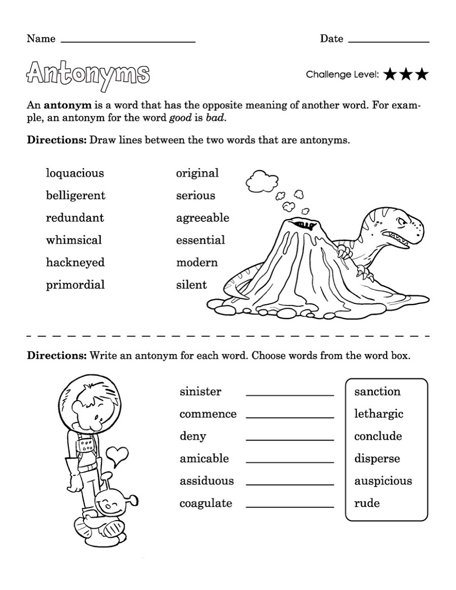 Printable-Educational-Worksheets-Antonym