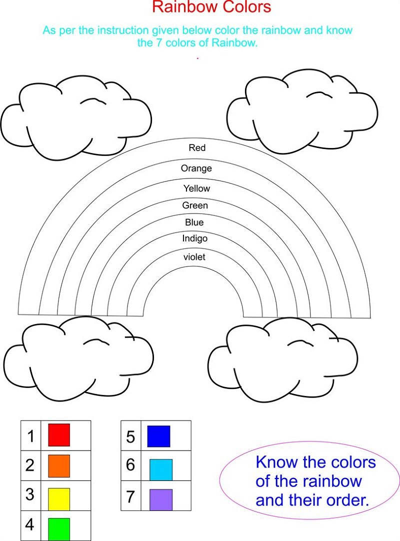 Printable Educational Worksheets Colors