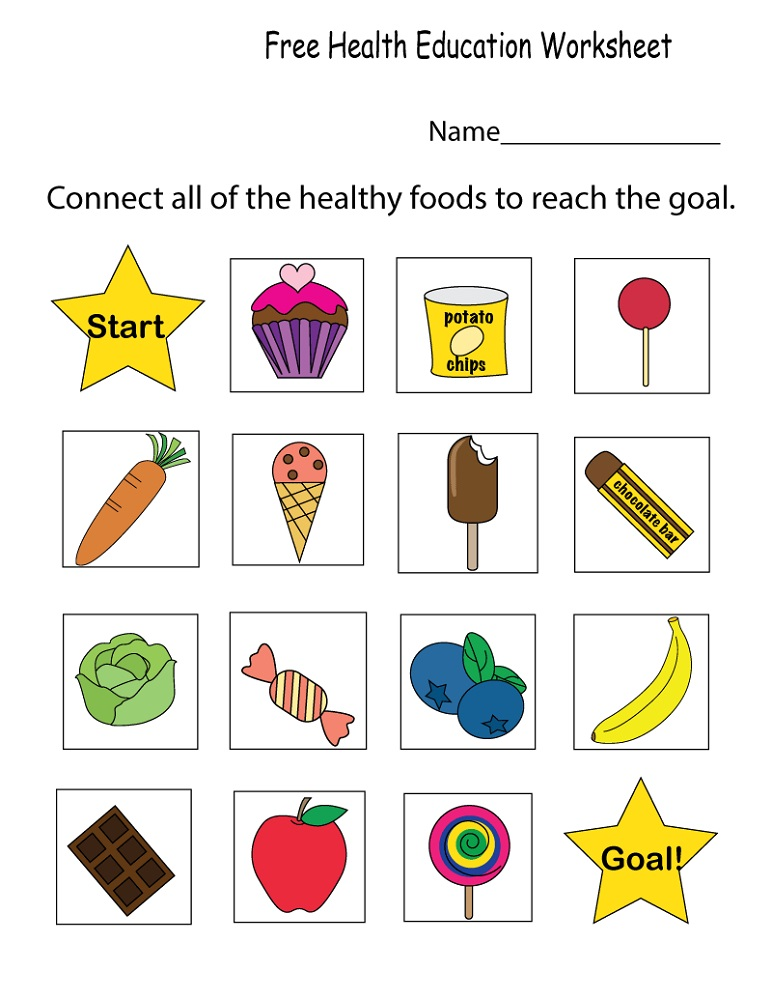 Printable Educational Worksheets Health