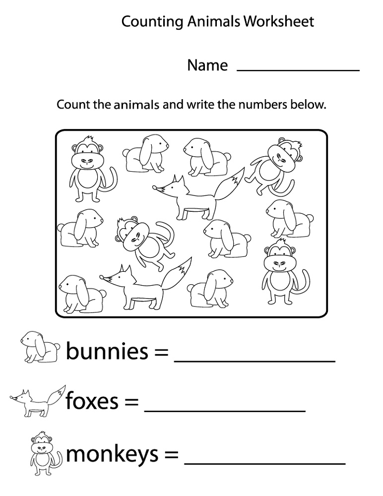 Printable Learning Pages For Toddlers Counting