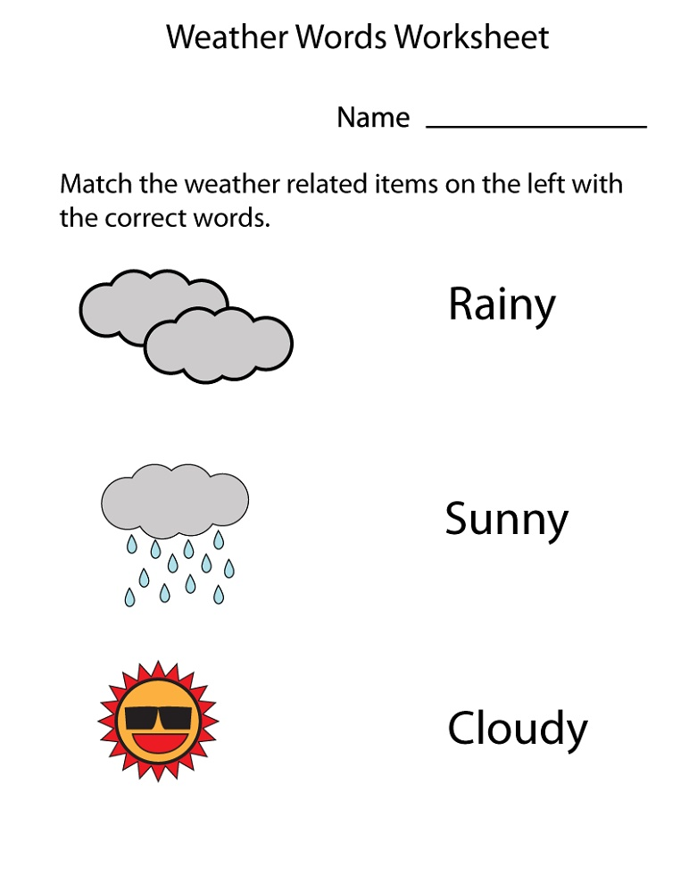 Printable Learning Pages For Toddlers Words