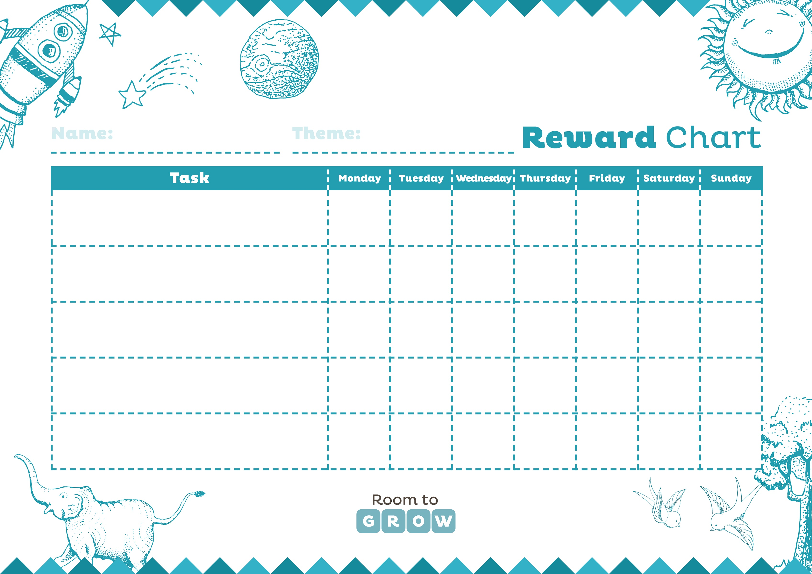 Printable Reward Charts Blank