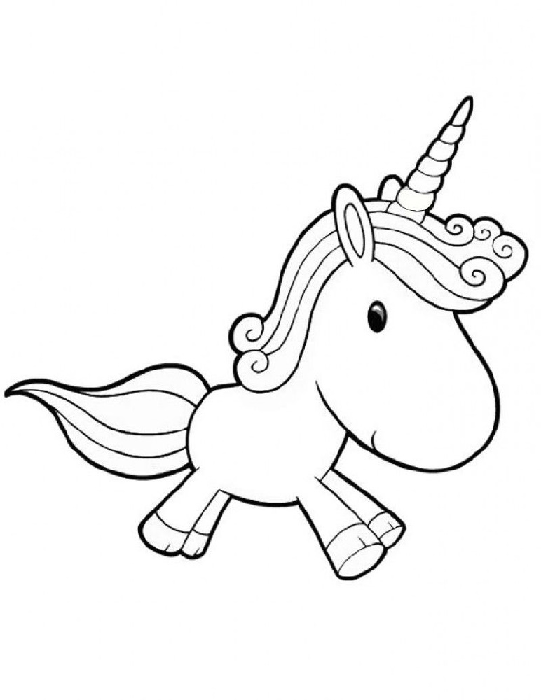 Printable Unicorn Coloring Pages Baby