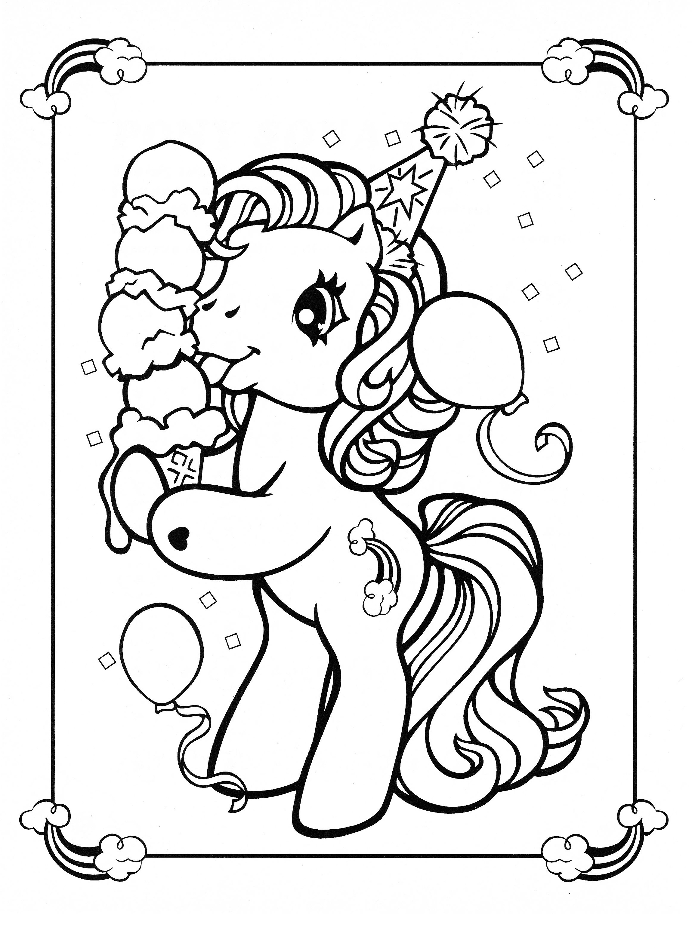 Printable Unicorn Coloring Pages For Girls
