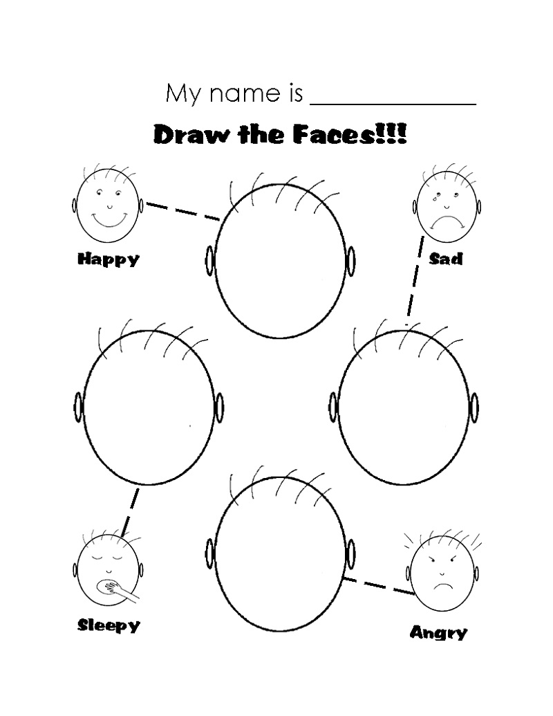 Printable Worksheets For Kids Emotions