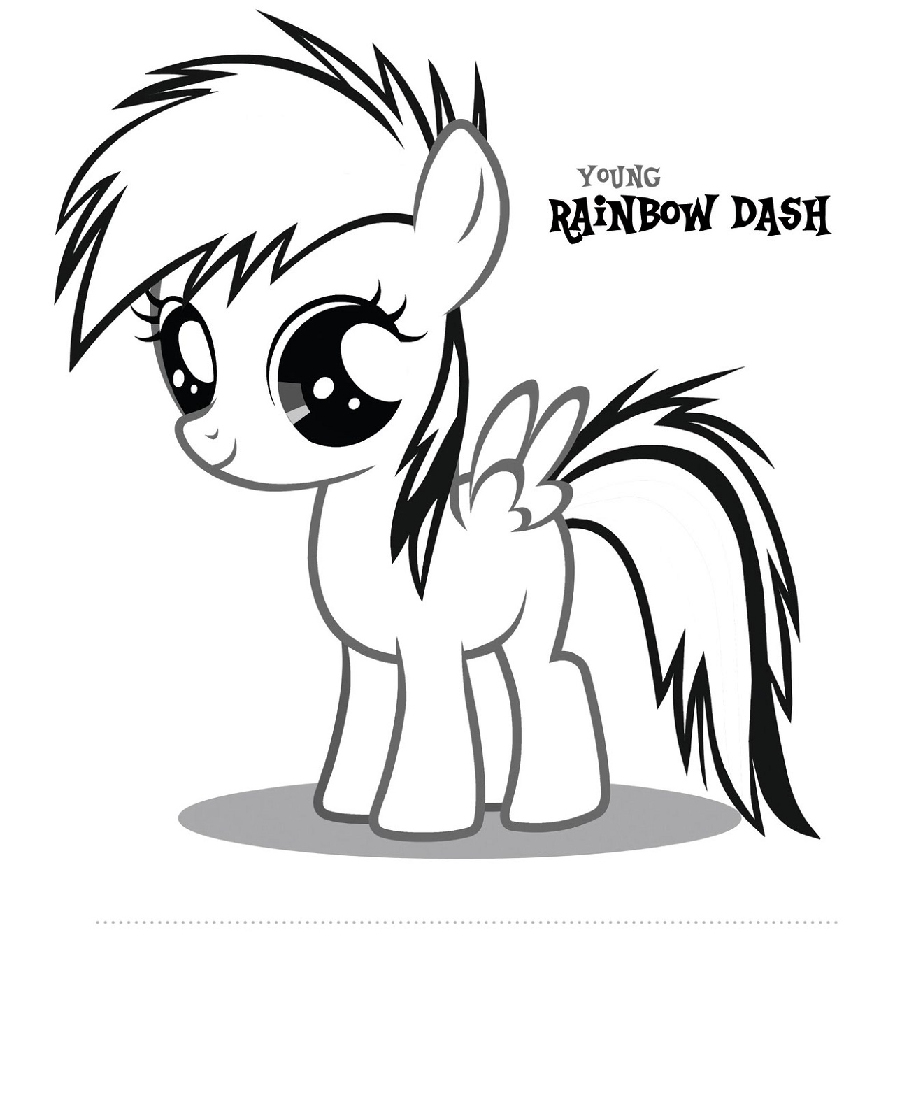 Rainbow Dash Coloring Pages Baby