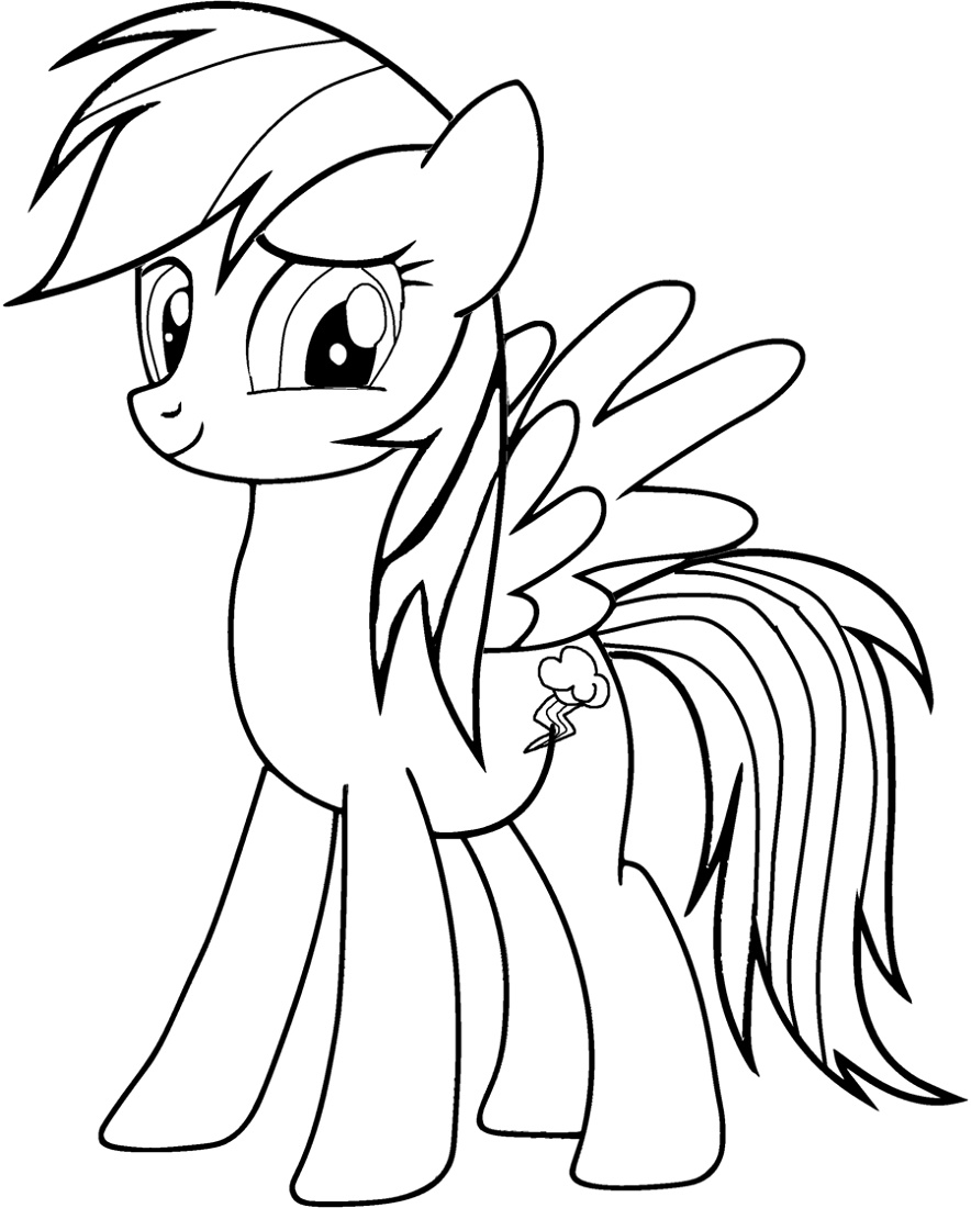 Rainbow Dash Coloring Pages For Kids