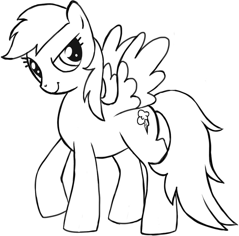 Rainbow Dash Coloring Pages Free