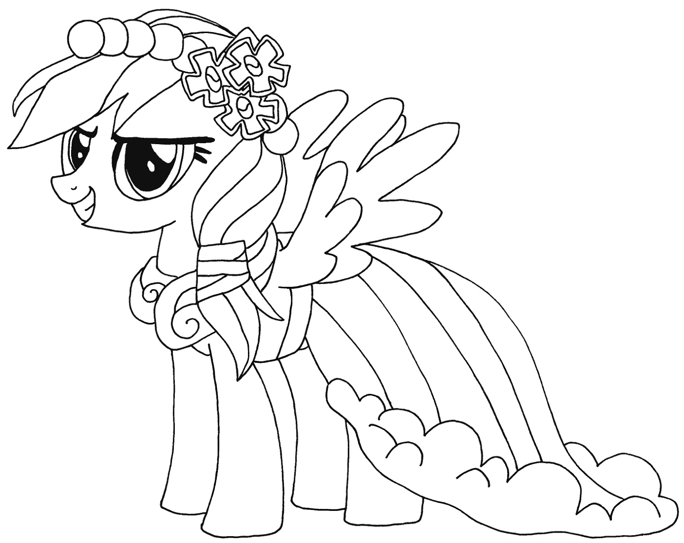 Rainbow Dash Coloring Pages My Little Pony