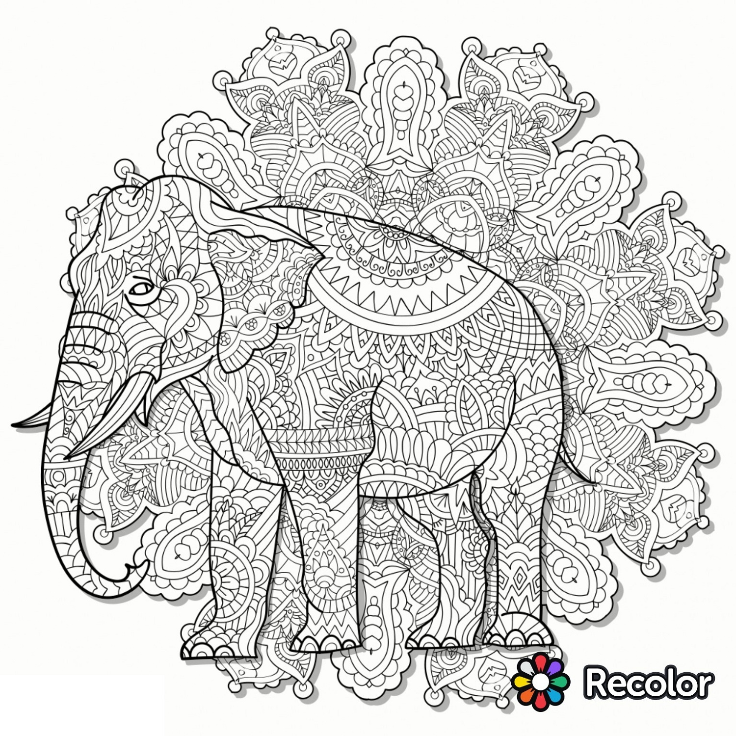 Recolor-Coloring-Book-Elephant