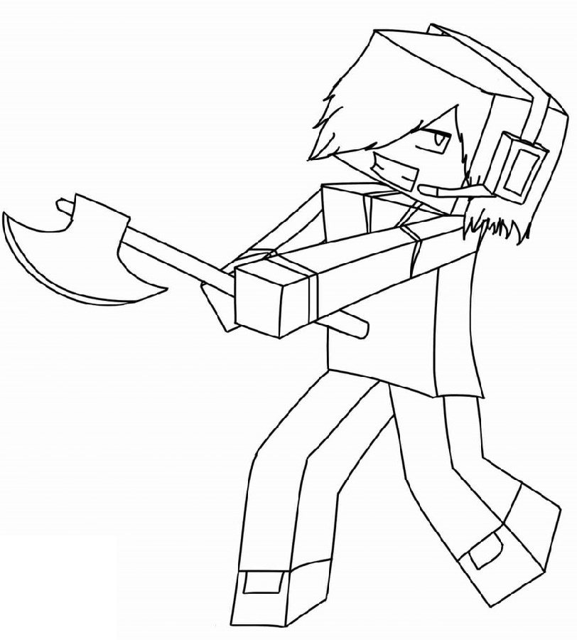 Roblox Dantdm Coloring Pages