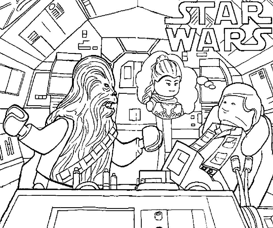 Rogue One Coloring Pages Lego