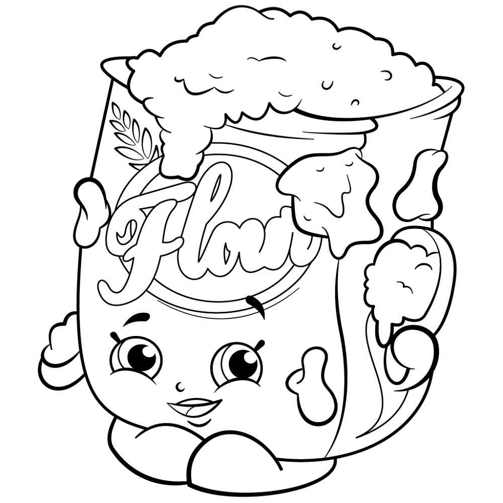 Shopkins Coloring Pictures Flour