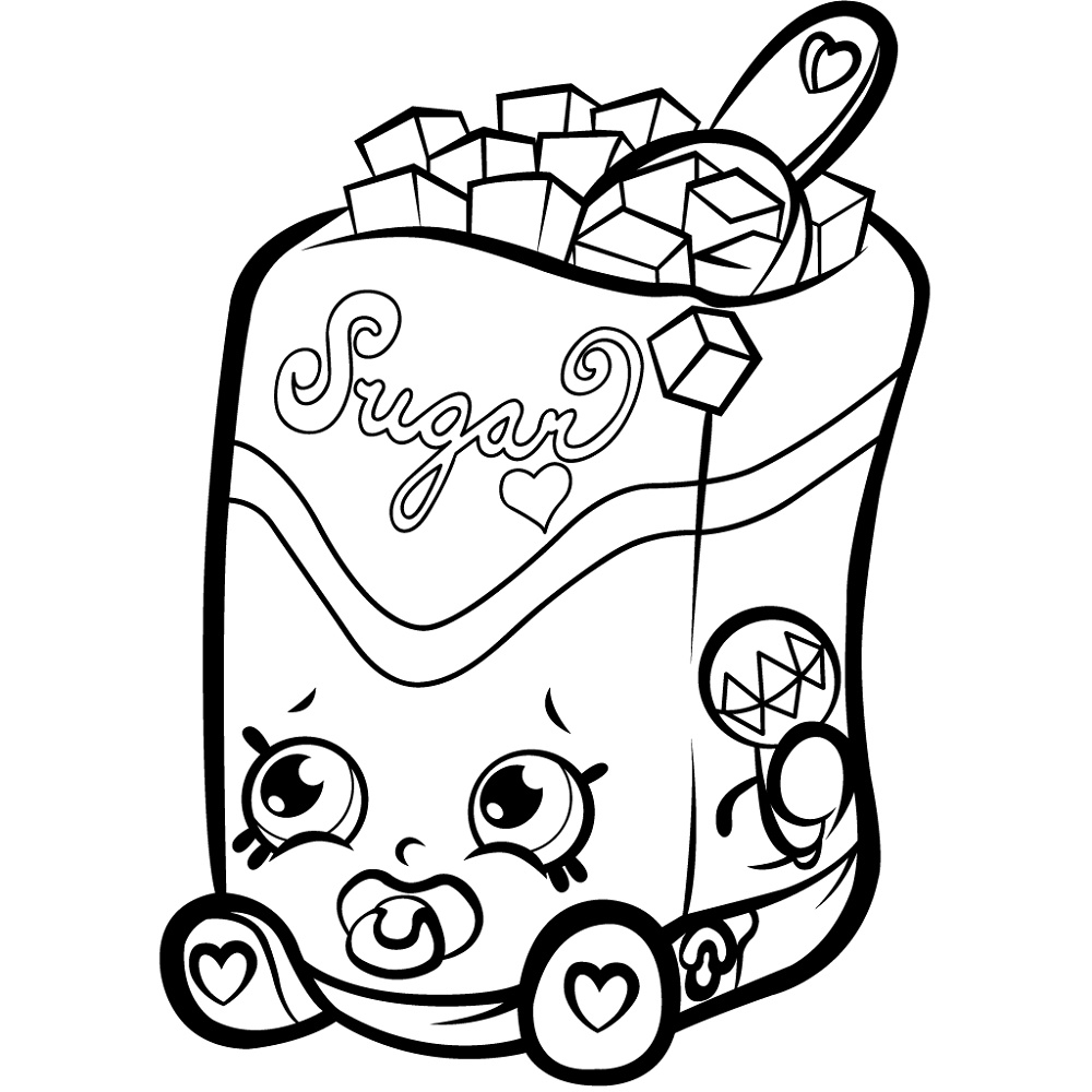 Shopkins Coloring Pictures Sugar