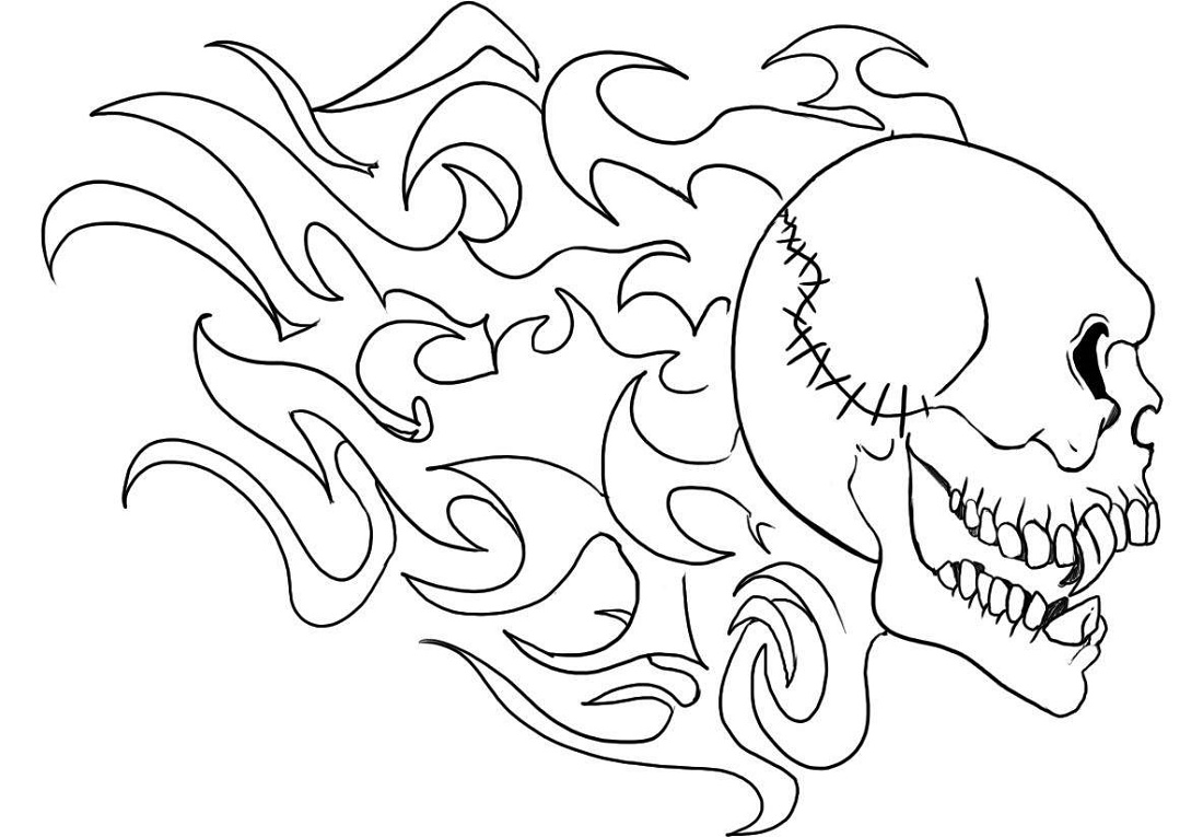 Skull Coloring Pages Cool