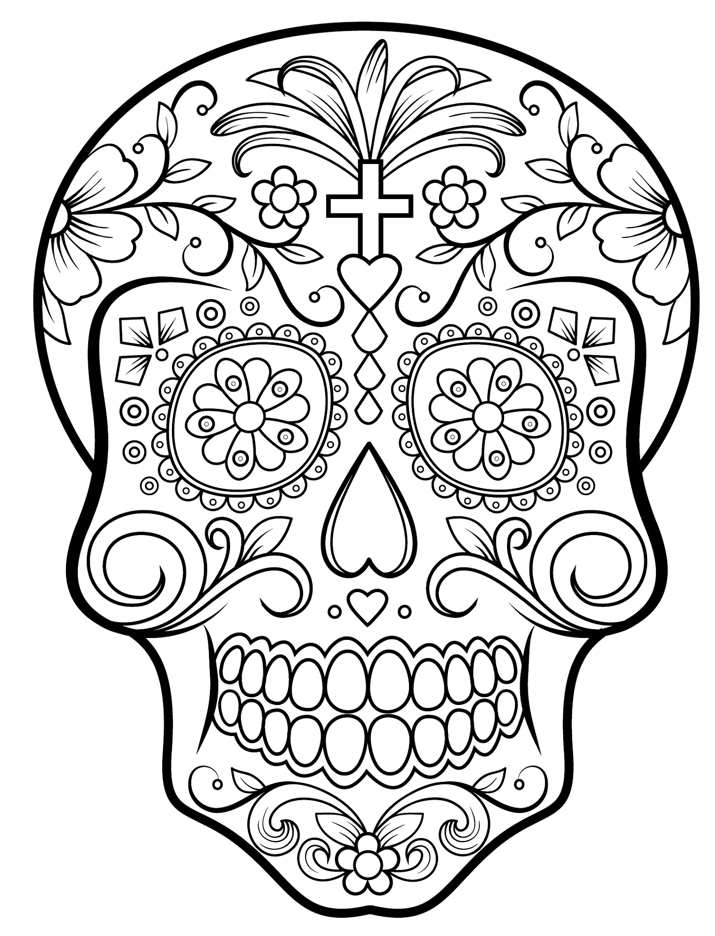 Skull Coloring Pages Free
