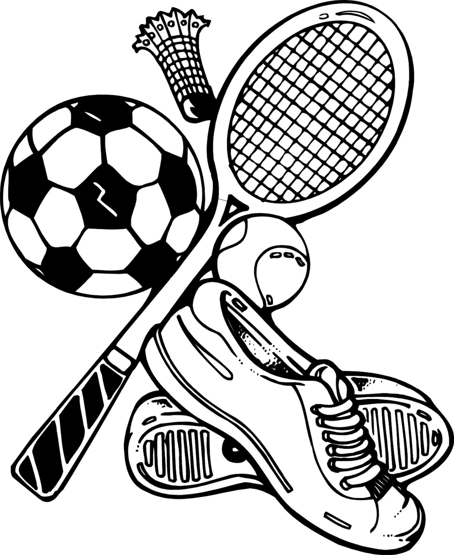 Sports Coloring Pages Free