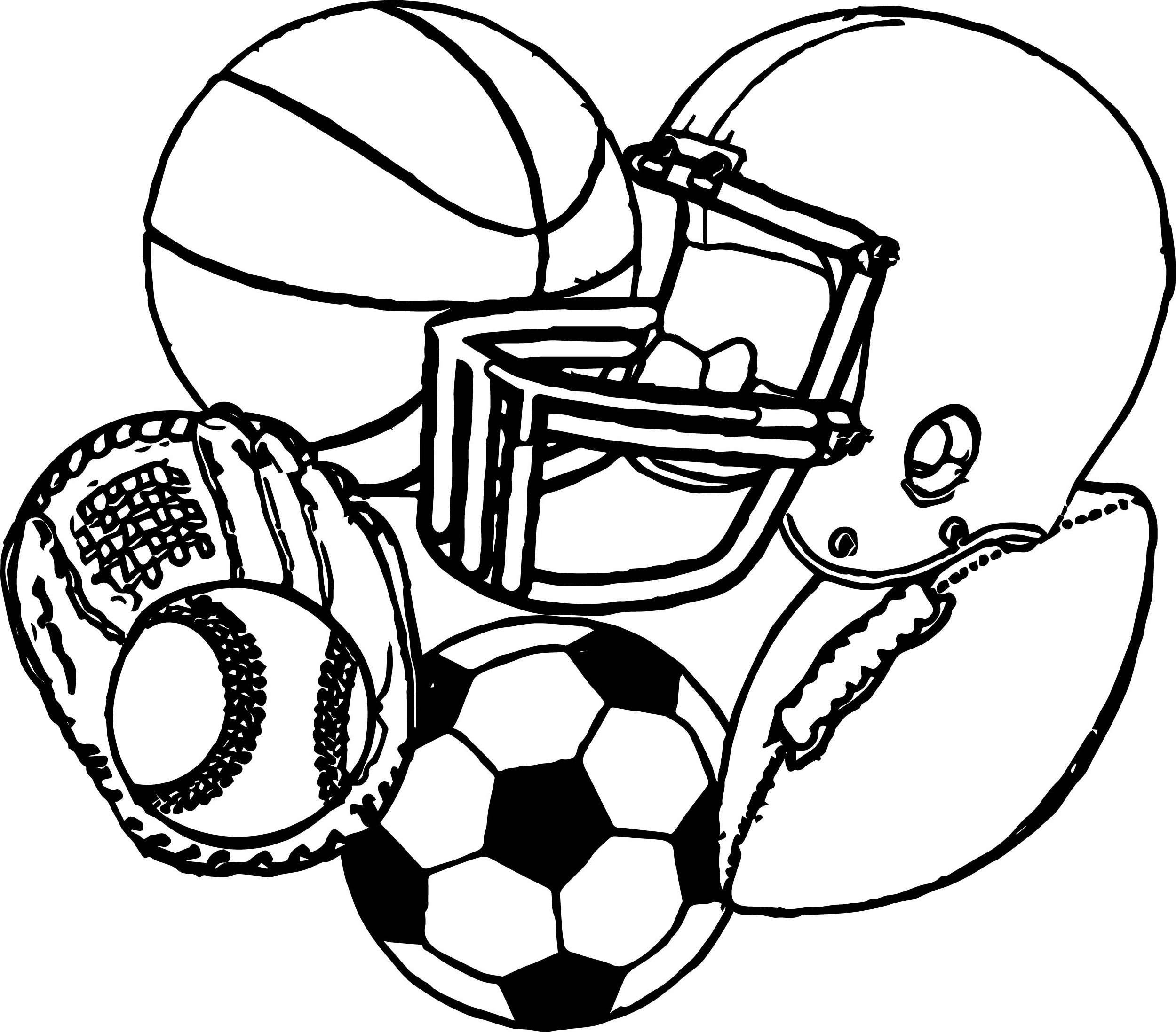 Sports Coloring Pages Printable