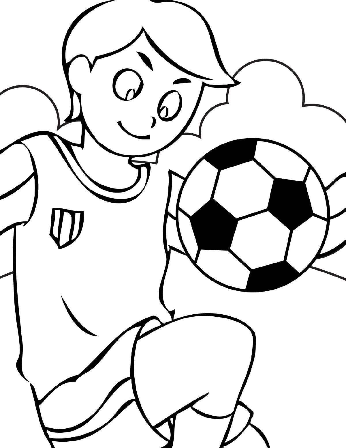 Sports Coloring Pages Soccer