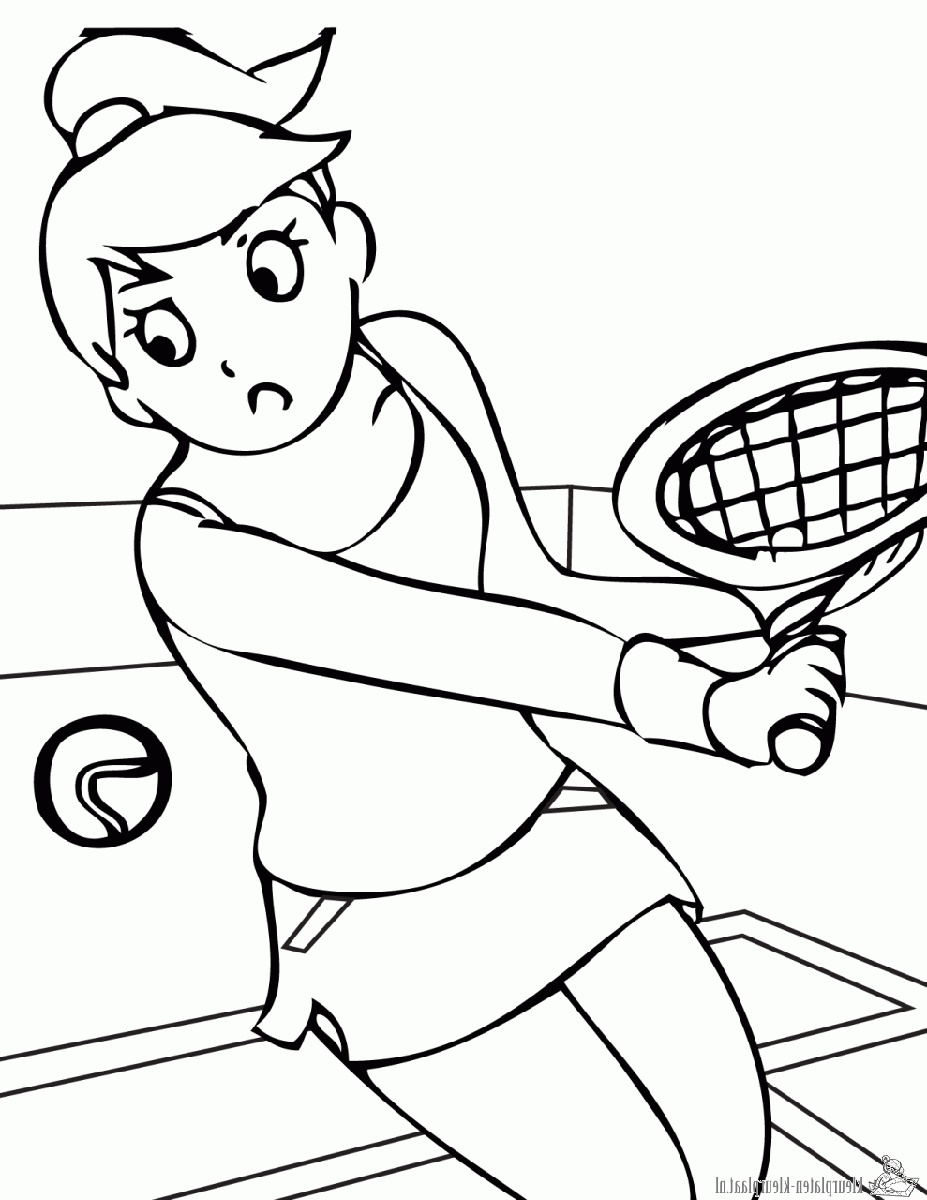 Sports Coloring Pages Tennis